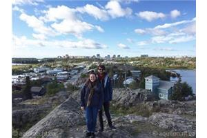 Catherine Desjardins et David Chevalier lors de leur escale à Yellowknife 